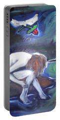 Portable Battery Charger featuring the painting Hope  by Winsome Gunning