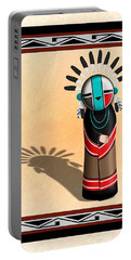 Portable Battery Charger featuring the digital art Hopi Sun Face Kachina by John Wills