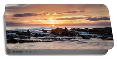Horizon In Paradise Portable Battery Charger by Heather Applegate