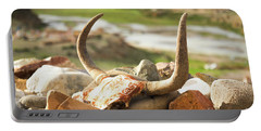 Portable Battery Charger featuring the photograph Horn And Valley Tibet Yantra.lv by Raimond Klavins