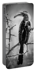 Portable Battery Charger featuring the photograph Hornbill Resting by Pravine Chester