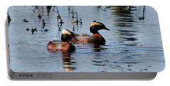 Horned Grebe Couple Portable Battery Charger