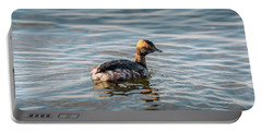 Horned Grebe Swimming In The Chesapeake Bay Portable Battery Charger