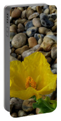 Horned Poppy And Pebbles Portable Battery Charger