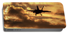 Portable Battery Charger featuring the photograph Hornet Sunset by Liza Eckardt