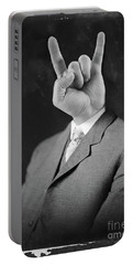 Horny Retro Portrait  Portable Battery Charger