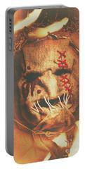 Horror Scarecrow Portrait Portable Battery Charger