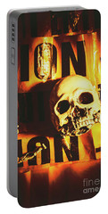 Horror Skulls And Warning Tape Portable Battery Charger