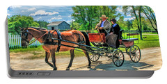 Horse And Buggy At Old World Wisconsin Portable Battery Charger