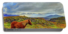 Portable Battery Charger featuring the photograph Horse And Mountains by Scott Mahon