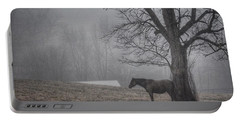 Portable Battery Charger featuring the photograph Horse And Tree by Sumoflam Photography