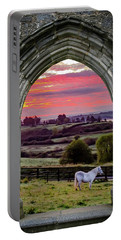 Portable Battery Charger featuring the photograph Horse At Sunrise In County Clare by James Truett