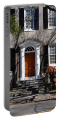 Horse Carriage In Charleston Portable Battery Charger