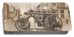 Horse Drawn Fire Engine 1910 Portable Battery Charger by Virginia Coyle
