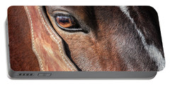 Portable Battery Charger featuring the photograph Horse Eye by Todd Klassy