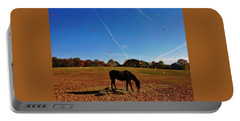 Horse Farm In The Fall Portable Battery Charger by Ed Sweeney