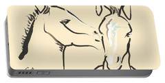 Horse-foals-together 6 Portable Battery Charger