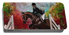 Show Jumper Equestrian Horse Wall Art  Portable Battery Charger