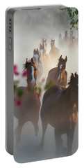 Horse Herd Coming Home Portable Battery Charger