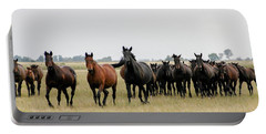 Horse Herd On The Hungarian Puszta Portable Battery Charger