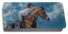 Horse Jumper Portable Battery Charger by Patricia Barmatz