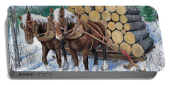Horse Log Team Portable Battery Charger