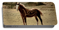 Horse Love Portable Battery Charger by Trish Tritz