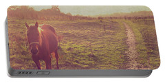 Horse Portable Battery Charger by Lyn Randle