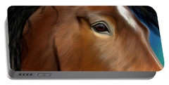 Horse Portrait Close Up Portable Battery Charger