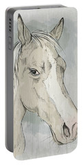 Horse Portrait-farm Animals Portable Battery Charger