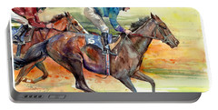 Horse Races Portable Battery Charger