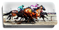 Horse Racing Dreams 4 Portable Battery Charger