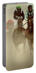 Horse Racing In Dust Portable Battery Charger