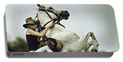 Horse Rearing With Girl Portable Battery Charger
