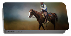 Portable Battery Charger featuring the photograph Horse Ride At The End Of Day by David and Carol Kelly