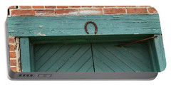 Horse Shoe On Old Door Frame Portable Battery Charger