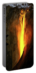 Portable Battery Charger featuring the photograph Horse Tail Fall Aglow by Greg Norrell