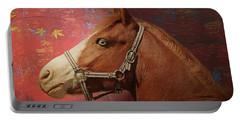 Horse Texture Portrait Portable Battery Charger