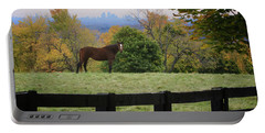 Horse With A View Portable Battery Charger by Gary Hall