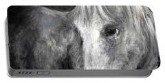 Horse With The Mona Lisa Smile Portable Battery Charger