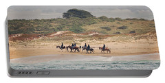 Horseback Riding On The Beach Portable Battery Charger