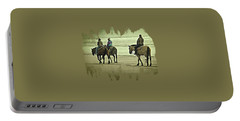 Horseback Riding On The Beach Portable Battery Charger by Thom Zehrfeld