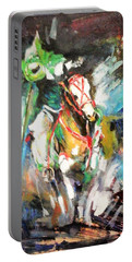 Horse,horseman And The Target Portable Battery Charger by Khalid Saeed