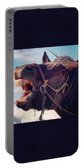 Horse Bare Teeth Portable Battery Charger by Ippei Uchida
