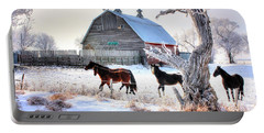 Horses And Barn Portable Battery Charger