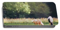 Portable Battery Charger featuring the photograph Horses by Andrea Anderegg