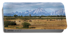 Horses At The Tetons Portable Battery Charger