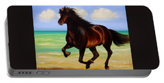 Horses In Paradise  Run Portable Battery Charger