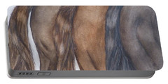 Horses In The Rear Portable Battery Charger
