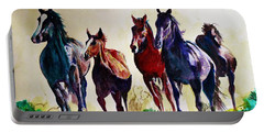 Horses In Wild Portable Battery Charger